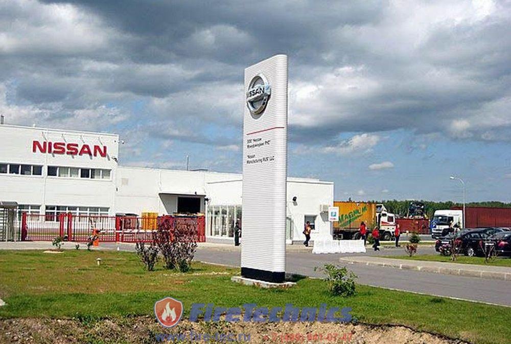 Противопожарные шторы на Заводе Nissan