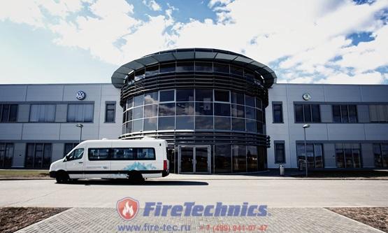 Откатные противопожарные ворота марки FireTechnics-P c пределом огнестойкости EI60 на заводе WV