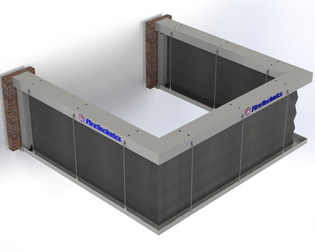Модель противопожарные шторы Гармошка