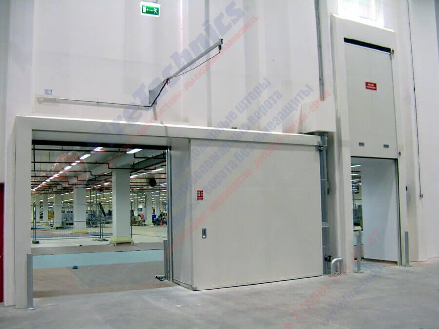 Противопожарные ворота и двери от компании FireTechnics