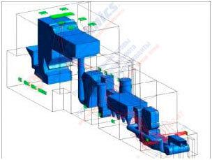 Модель здания в CFD-имитации