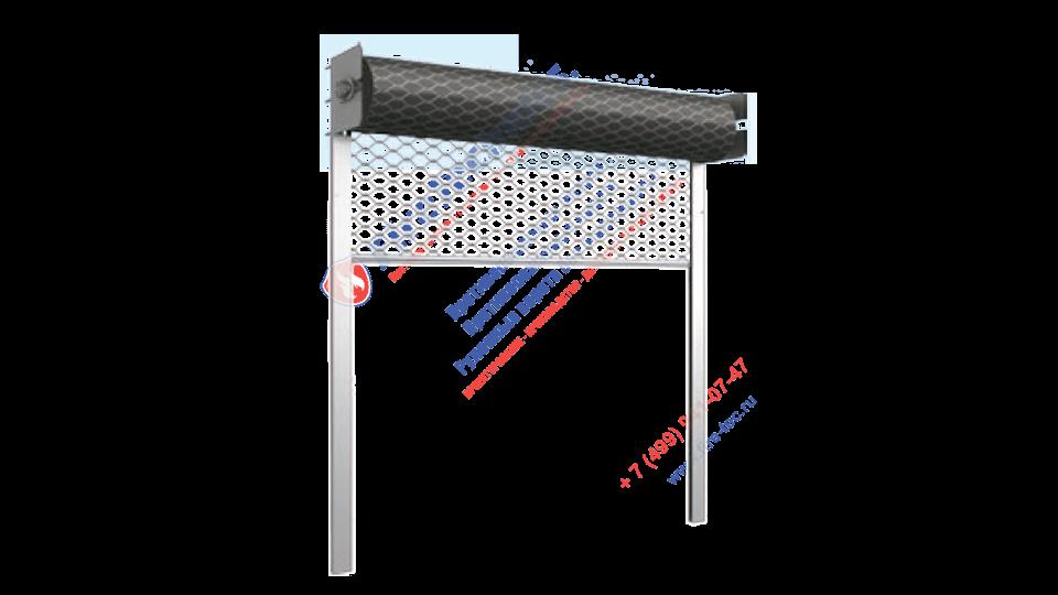 Светопрозрачные рулонные ворота сетка